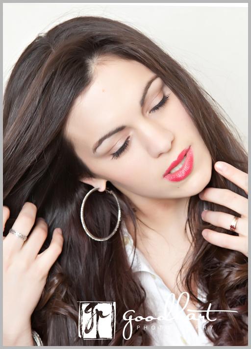 fierce brunette glamour shoot