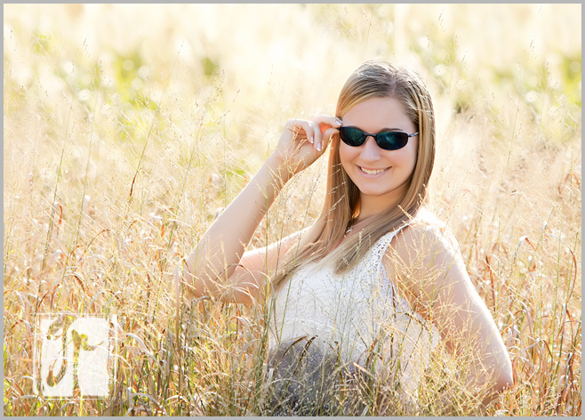gorgeous senior with sunglasses