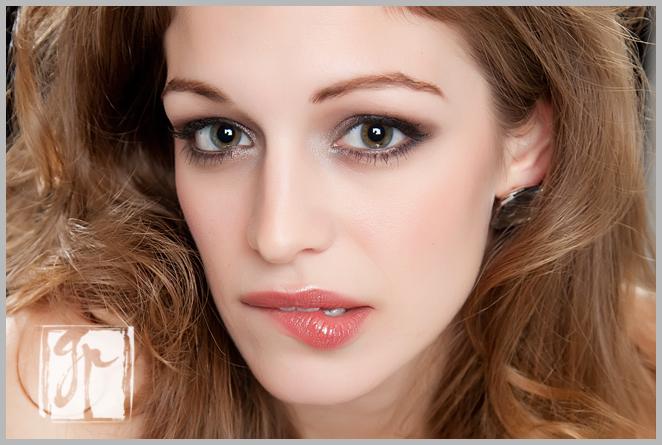 lovely woman biting her lip