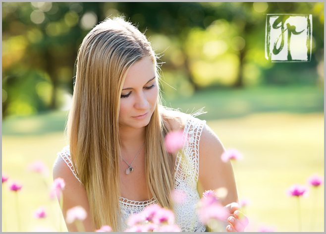 senior portraits Meadowlark gardens