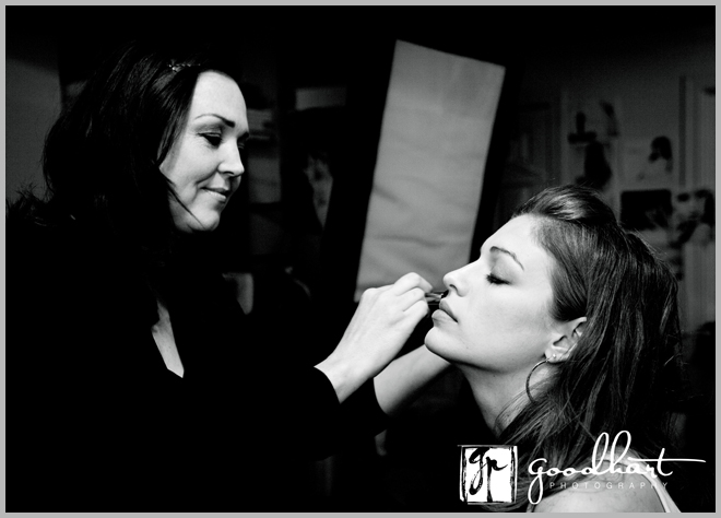 woman being prepped for a photoshoot 2