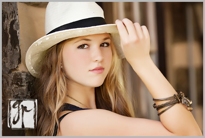 Holly Jay Perfectly Beautiful Senior Girl with Straw Hat