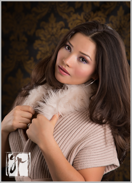 lovely woman with fur collar