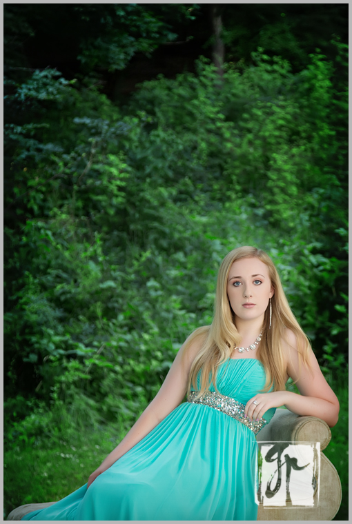 gorgeous high school senior in mint green prom dress