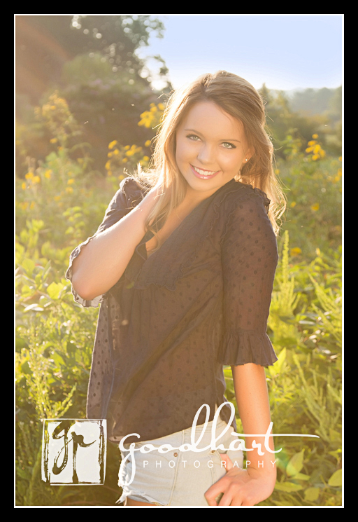 Sundrenched senior pictures