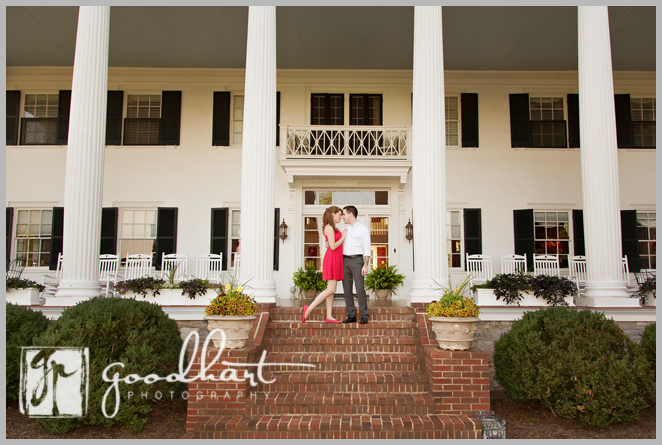Engagement shoot at Rosemont Manor