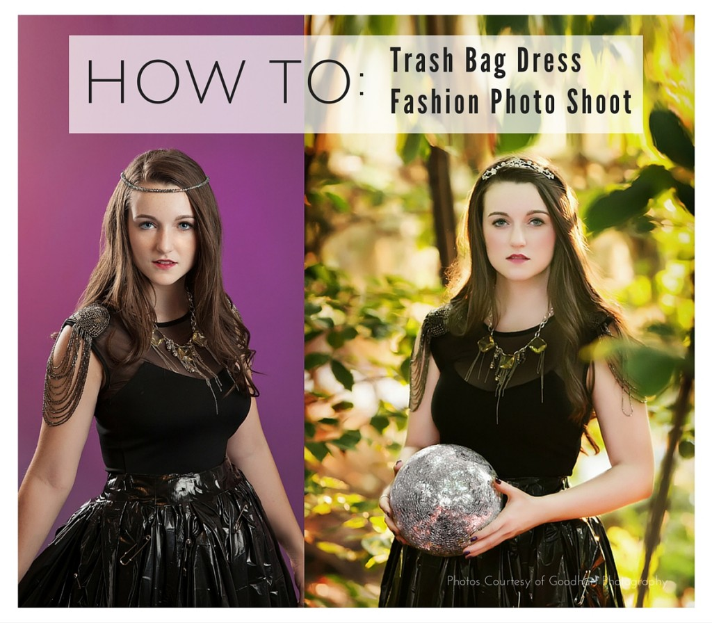 TRASH BAG  DRESS FASHION SHOOT