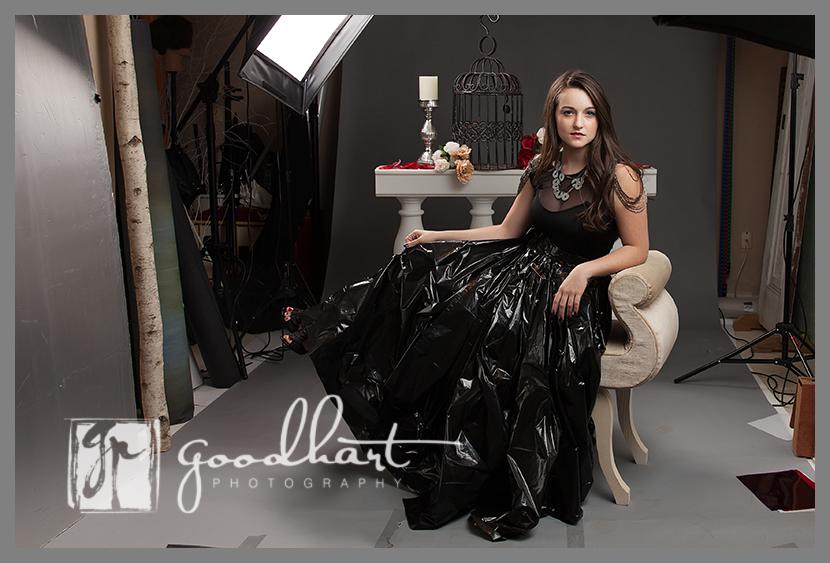 Trash Bag Dress Royalty Pullback