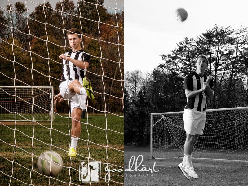 senior guy with soccer ball