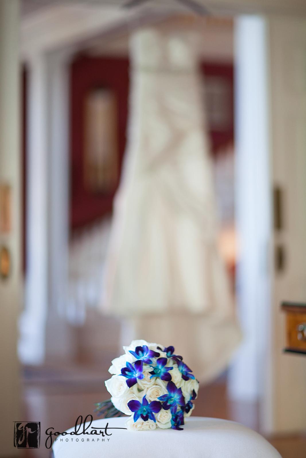 Dress hanging at Rosemont Manor