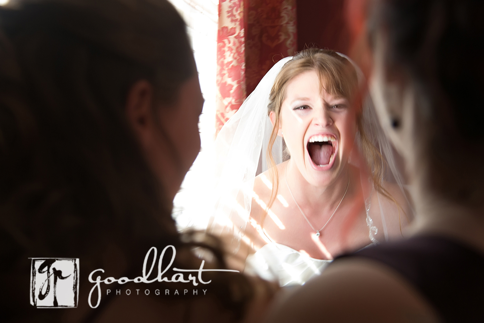 beautiful laughing bride at rosemont manor