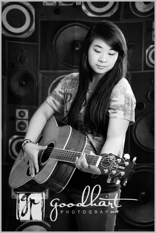 Senior Girl with Guitar web