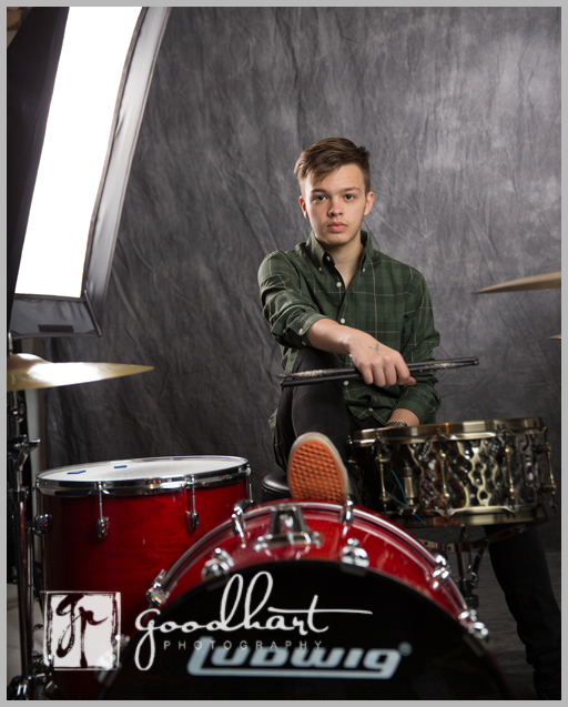 senior guy with drums