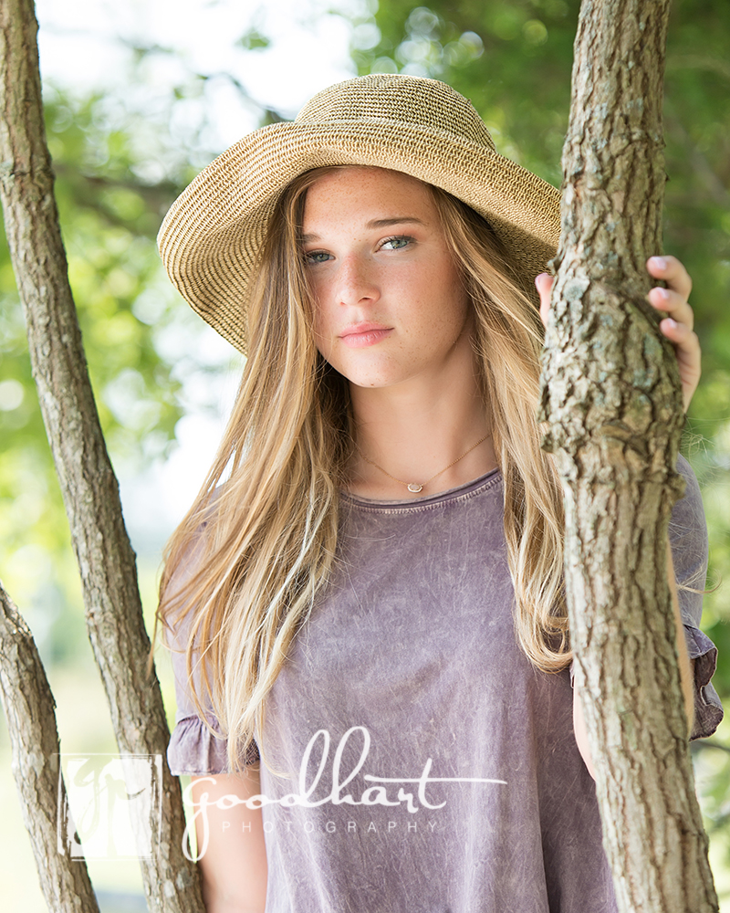 beautiful senior girl Loudoun county